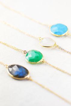 Leinani bracelet chrysoprase gold bracelet aqua