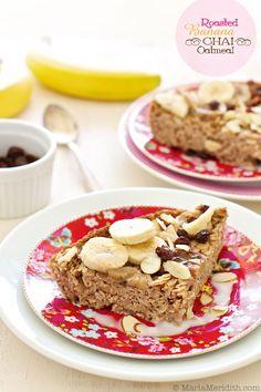 Roasted Banana Chai Oatmeal | Vegan & Gluten Free Recipe |