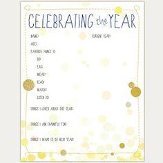 Wonderful Joy Ahead: New Year's Eve Tradition