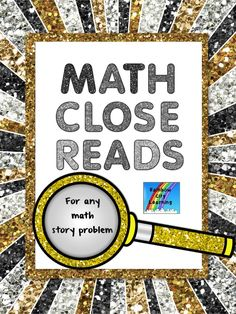 Close Reads are becoming more and more important as we continue to work toward meeting the Common Core State Standards in ELA. For longer math story problems such as those found in my CeeCee Math series, close reading will help our students to make sense of the problem and develop a blueprint for their work.       The pages in this resource will work with any multi-paragraph word problems. You might even want to try having your students write some of their own!