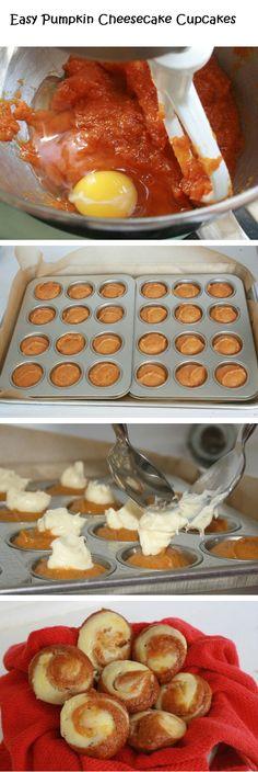 Easy Pumpkin Cheesecake Cupcakes