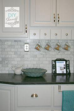 Marble backsplash | DIY Show Off
