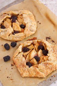 Apple Blackberry Tarts {#BakeForGoodTour with King Arthur Flour} - afarmgirlsdabbles.com #desserts #dessertrecipes #yummy #delicious #food #sweet