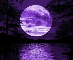 Purple moon and water. Pretty. Signing off for tonight. Have fun pinting. The Incensewoman