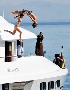 Brody Jenner and Kylie Jenner Do Flips Off a Yacht in Greece