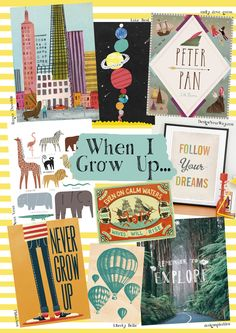 Day 24 - When I Grow Up  http://giftedcompetition.tigerprint.uk.com/themes-2013#growTheme gift, pattern, grow upil, magnet