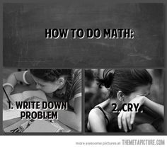 This is exactly how I do math. lol!