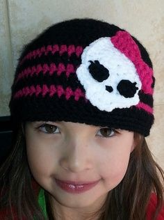 Crochet monster high beanie -