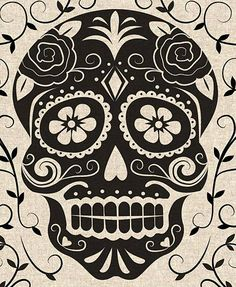 Dia de los Muertos. Sugar Skull.  This will be one of my next tattoos, maybe on my half sleeve.