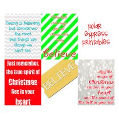 Set of 5 Polar Express Quotes.