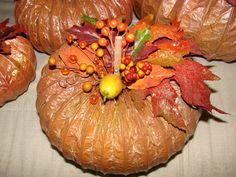 Pumpkin made from dryer hose :)