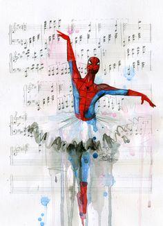 I always like ballerina Spidey. :D