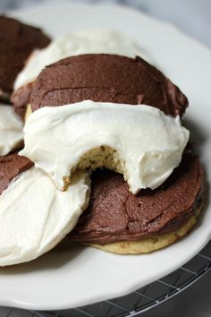 Black and White Cake Cookies - Baker by Nature