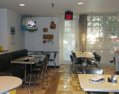 ...dining at 50's Prime Time Cafe.  Always get a laugh and great food too!