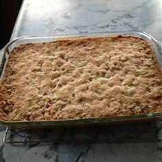 Grandma Bev's Rhubarb Dessert (Rhubarb Crisp)