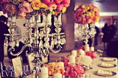 Pretty vintage wedding decor with pink peonies and roses