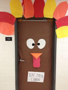 Thanksgiving door decoration for school