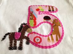Personalized Horse Theme Applique Birthday by cuteasabuttondesigns, $22.00