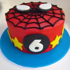 Spiderman cake: Inspiration for sides of cake