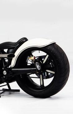 ♂ Black  white motorcycle details