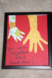 #Father'sDay craft paper handprints
