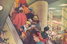 pomeroys department store, vintag christma, christmas shopping, department stores, store christma, depart store, 1955, store xmas