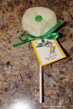 Green Eggs and Ham lollipops