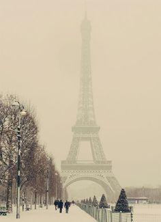 Go to Paris in the wintertime.