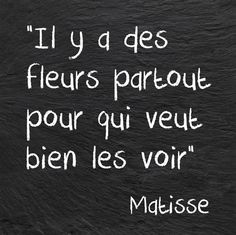 There are flowers everywhere for those who wish to see them • Matisse