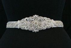 ALEX  Wedding bridal crystal pearl sash  belt by startrim on Etsy, $98.00