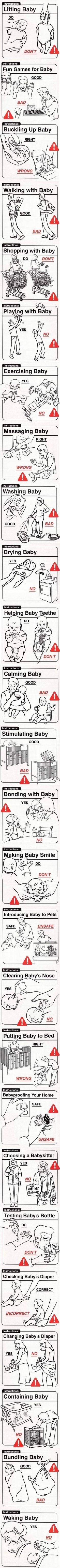 Baby Handling techniques-the right way! ;)