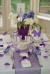 Purple Wedding Table Decorations