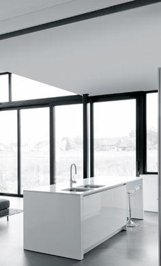 #Interior design #kitchens #minimalism #architecture #white interiors - KOVE interieurarchitecten | Scheppers