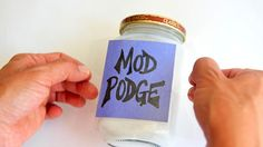 water, project, decoupag, idea, crafti, homemad, how to make mod podge, diy, wikihow