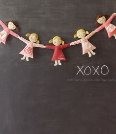 diy dolls-garland