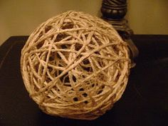 another twine ball tutorial - hmmm could you spray paint them for your colour scheme?