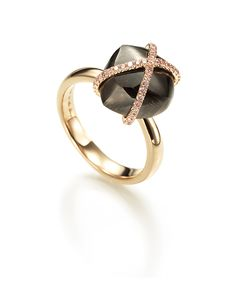 Diamond in the Rough Chocolate rough diamond embraced with pink micro pave diamonds. http://ow.ly/aguLz