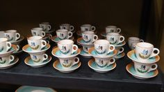 Hummingbird espresso cups and saucers.