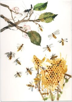 bees/ oh I want this print