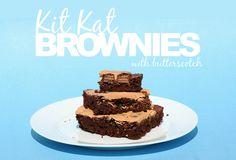 Kit Kat Brownies with Butterscotch