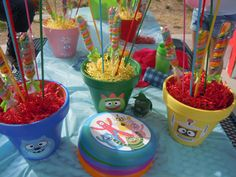 Baby 1st Bday Party On Pinterest Party Desserts Centerpieces And Candy Buffet