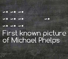 First known picture of Michael Phelps