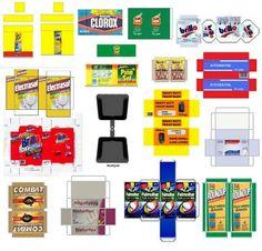 doll printabl, cuti printi, miniatur printabl, pour miniatur, mini printi, craftsprint doll, dollhous printabl, cleaning supplies, barbi furnitur