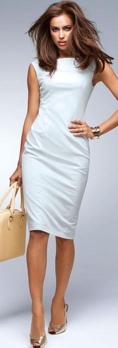 Madeleine - white sheath dress