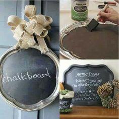 Chalkboard platters