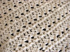 Everyday Handmade: Simple Lacy Look Dish Cloth