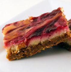 Lime Raspberry Cheesecake Bars | Desserts Garden