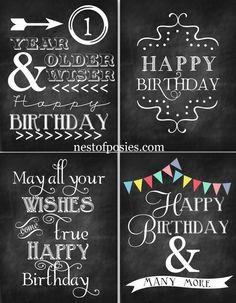 free chalkboard printables, happy birthdays, birthday chalkboard, chalkboard art, free happy birthday printables, happi birthday, birthday free printables, chalkboard printables free, birthday printables free