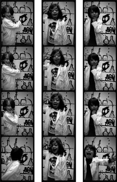Science birthday party photo booth!