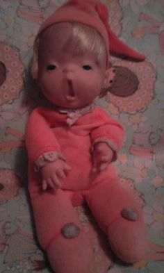 1970's Mattel Baby Beans Doll . This is a bad picture, but he was my favorite!
